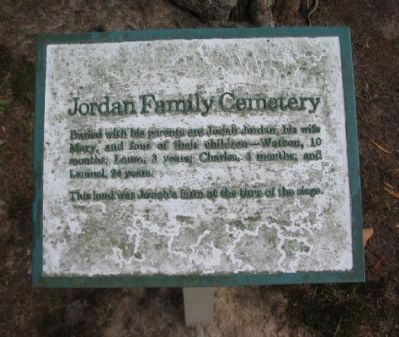 Jordon Family Cemetery Marker image. Click for full size.