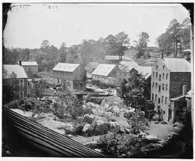 Wartime Photo of Ettrick and the Mills Photo, Click for full size