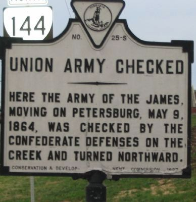 Union Army Checked Marker image. Click for full size.