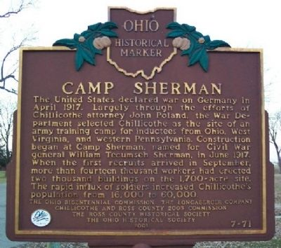 Camp Sherman Marker (Side A) Photo, Click for full size