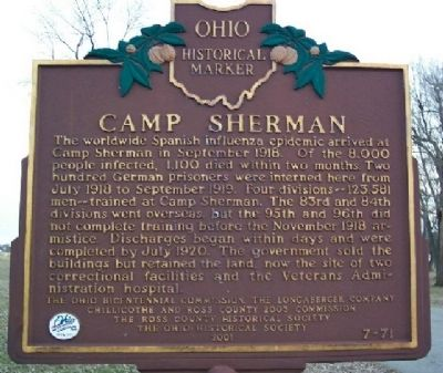 Camp Sherman Marker (Side B) Photo, Click for full size