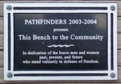 Pathfinders Bench Marker image. Click for full size.
