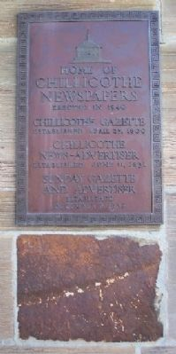 Home of Chillicothe Newspapers Marker image. Click for full size.