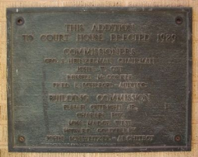 Court House Addition Marker Photo, Click for full size