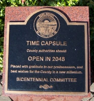 Ross County Time Capsule Marker image. Click for full size.