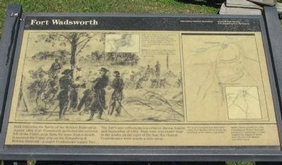 Fort Wadsworth Marker image. Click for full size.