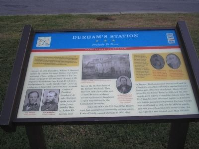 Durham's Station Marker Photo, Click for full size