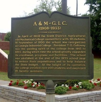 A&M - G.I.C. Marker image. Click for full size.