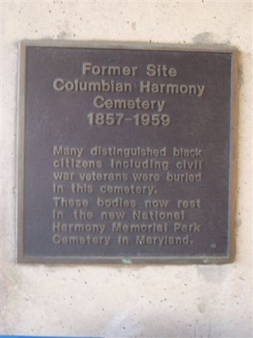 Former Site, Columbian Harmony Cemetery Marker