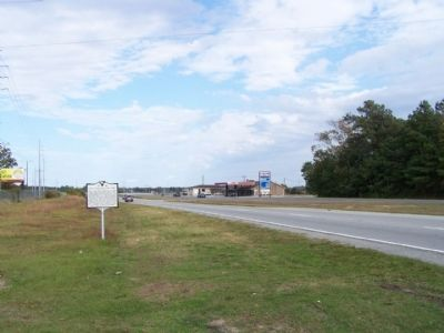 The Stono Rebellion Marker, looking north on US 17 image. Click for full size.