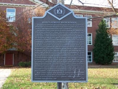 Old Claymont High School Marker Photo, Click for full size