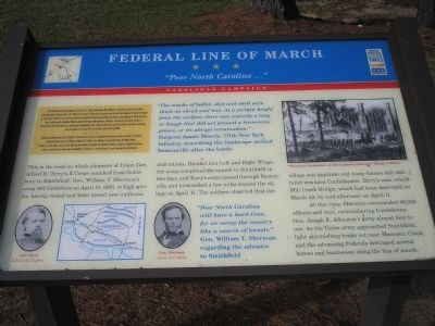 Federal Line of March Marker image. Click for full size.