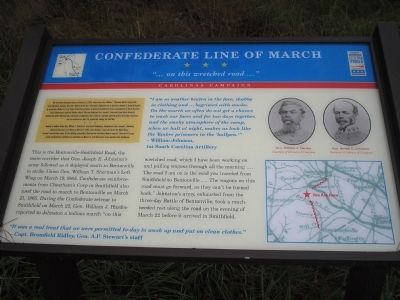 Confederate Line of March Marker Photo, Click for full size