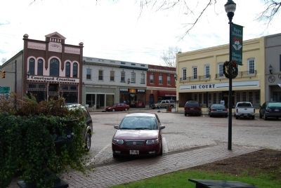 Abbeville Square -<br>Corner of Pickens and Main Streets image. Click for full size.
