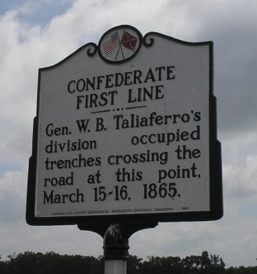 Confederate First Line Marker Photo, Click for full size