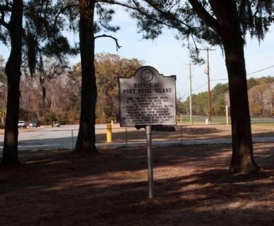 Battle of Port Royal Island Marker Photo, Click for full size