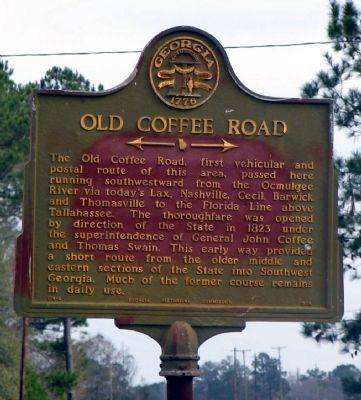 Old Coffee Road Marker Photo, Click for full size