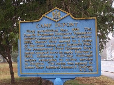 Camp DuPont Marker image. Click for full size.