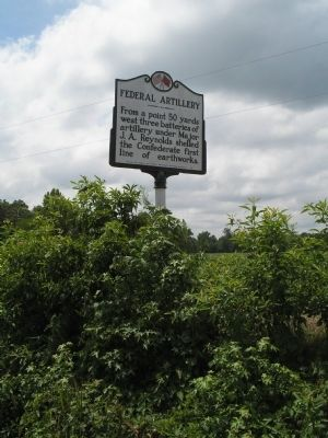 Marker on Averasboro Battlefield image. Click for full size.