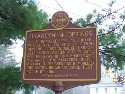 Brandywine Springs Marker image. Click for full size.
