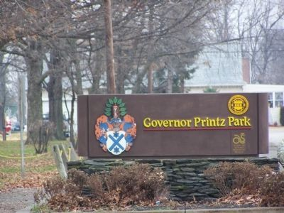 Governor Printz Park Sign image. Click for full size.