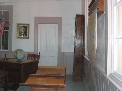 Interior of the Altaville Grammar School Photo, Click for full size