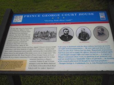 Prince George Court House Marker image. Click for full size.