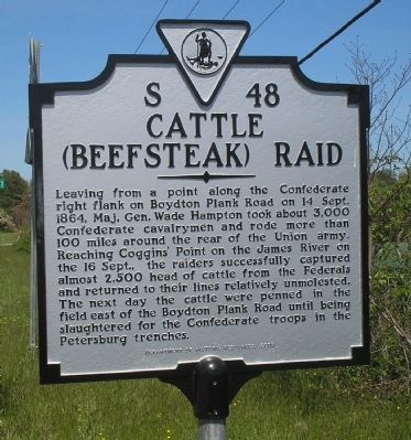 Cattle (Beefsteak) Raid Marker Photo, Click for full size