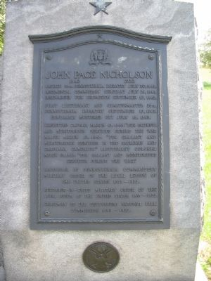 John Page Nicholson Memorial image. Click for full size.