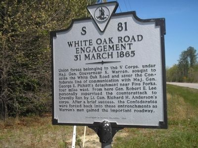 White Oak Road Engagement Marker Photo, Click for full size