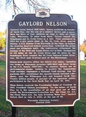 Gaylord Nelson Marker Photo, Click for full size