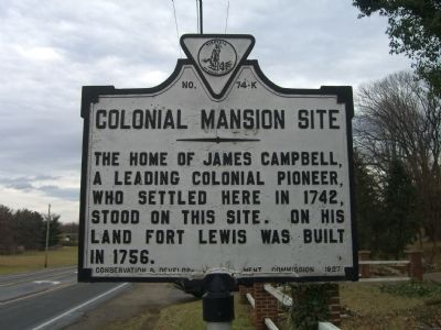 Colonial Mansion Site Marker image. Click for full size.
