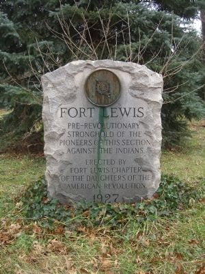 Fort Lewis Marker image. Click for full size.