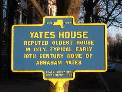Yates House Marker - Schenectady, NY Photo, Click for full size