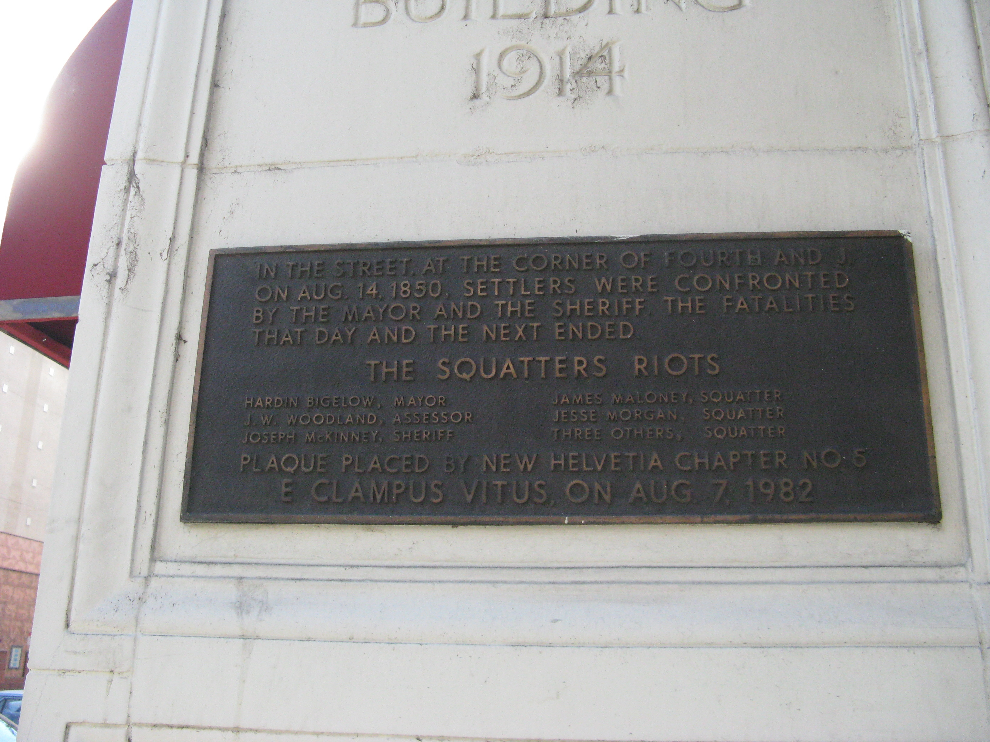 The Squatters Riot Marker