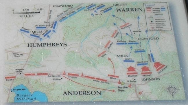 The White Oak Battle Map from Marker Photo, Click for full size