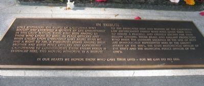 The California Peace Officers Memorial Marker Photo, Click for full size