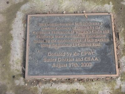 El Camino Real Bell Marker Photo, Click for full size