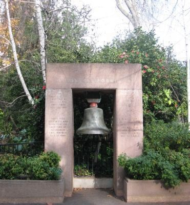 USS California Bell Memorial image. Click for full size.
