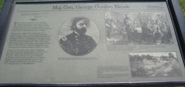 Maj. Gen. George Gordon Meade Marker Photo, Click for full size