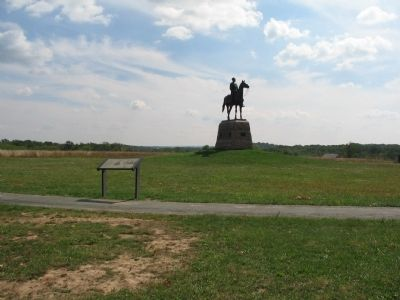The Meade Marker in front of the Meade Memorial image. Click for full size.