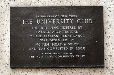 The University Club Marker image. Click for full size.