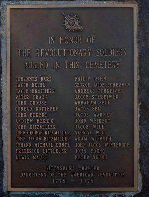 Revolutionary Soldiers Memorial Marker Photo, Click for full size