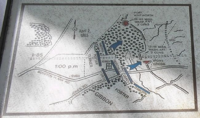 Battle Map of from Marker Photo, Click for full size