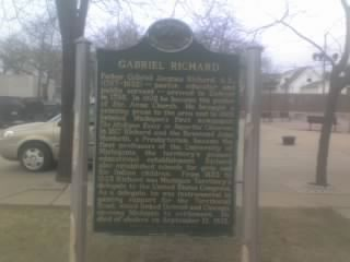 Gabriel Richard Marker image. Click for full size.