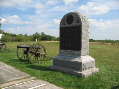 Battery K, 1st N.Y. Light Artillery Monument image. Click for full size.