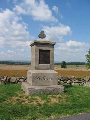 14th Connecticut Volunteer Infantry Monument Photo, Click for full size