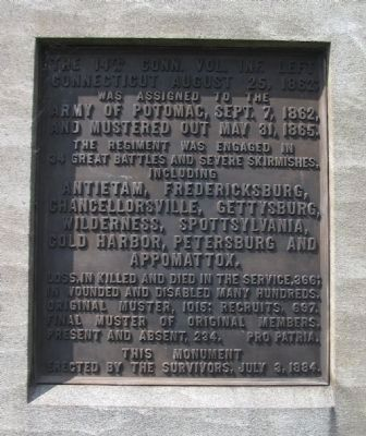 Front Plaque Photo, Click for full size
