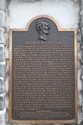 Abraham Lincoln Marker Photo, Click for full size