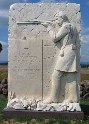 1st Company Massachusetts Sharpshooters Monument image. Click for full size.